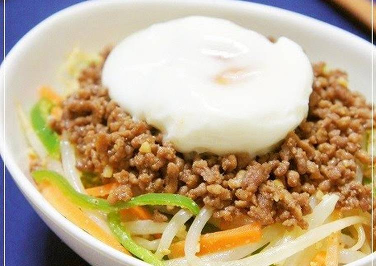 Bibimbap Style Namul & Crumbly Ground Meat over Rice, Help Your Heart with Food