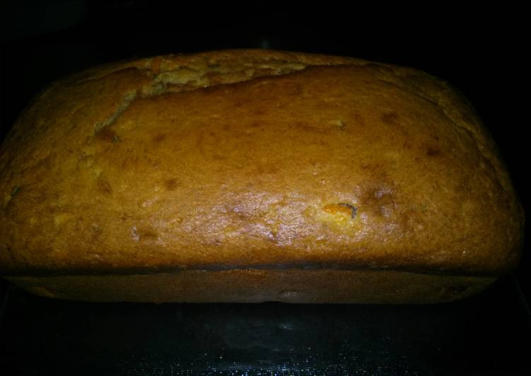 Banana peach mandarin bread