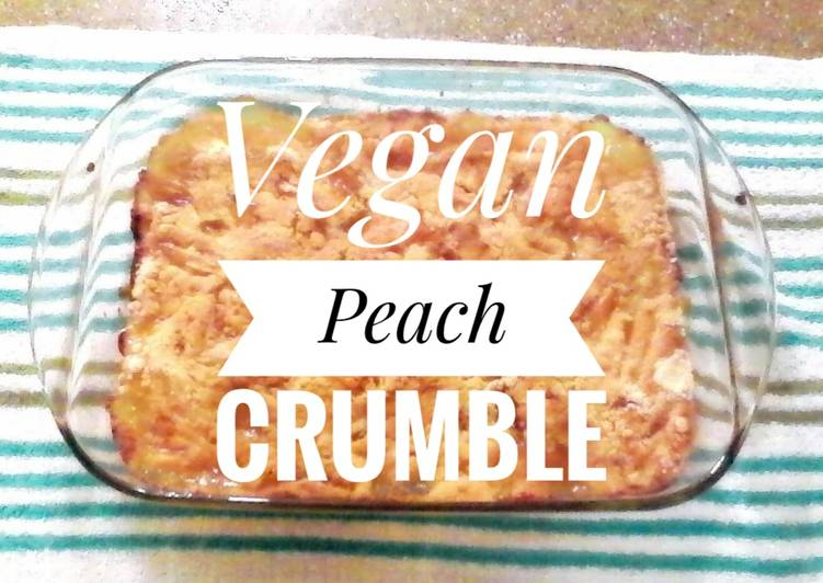 Recipe of Award-winning Vegan Peach Crumble 🍑