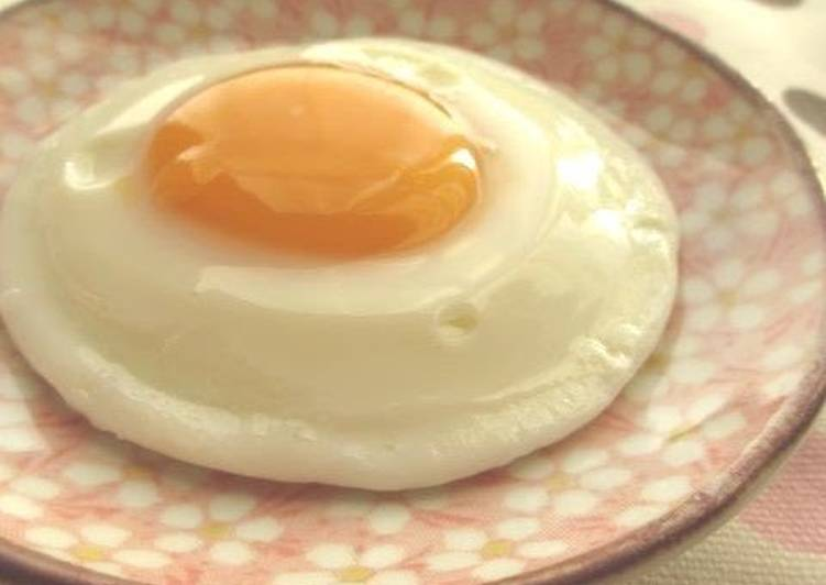 Fried Egg For One Made In A Microwave