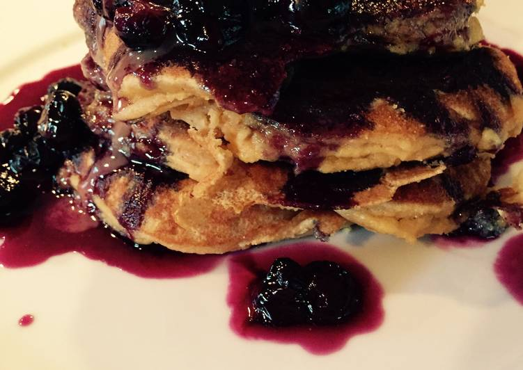 Healthy Blueberry Protein Pancakes