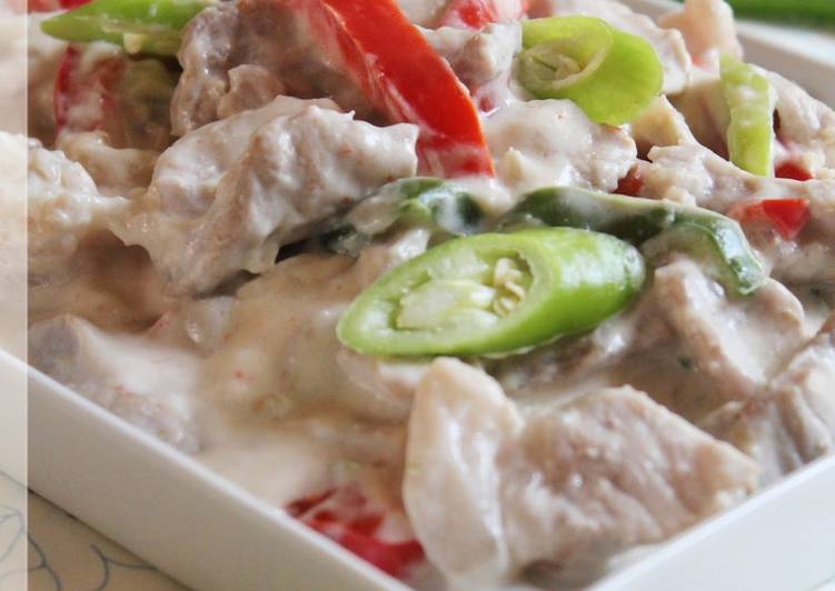 Flavor of the Philippines! Pork Cooked in Coconut Milk