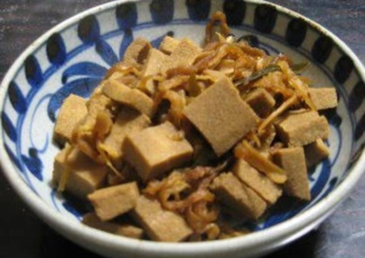 25 Minute Simple Way to Make Special Macrobiotic: Simmered Dried Daikon Radish and Koya Tofu