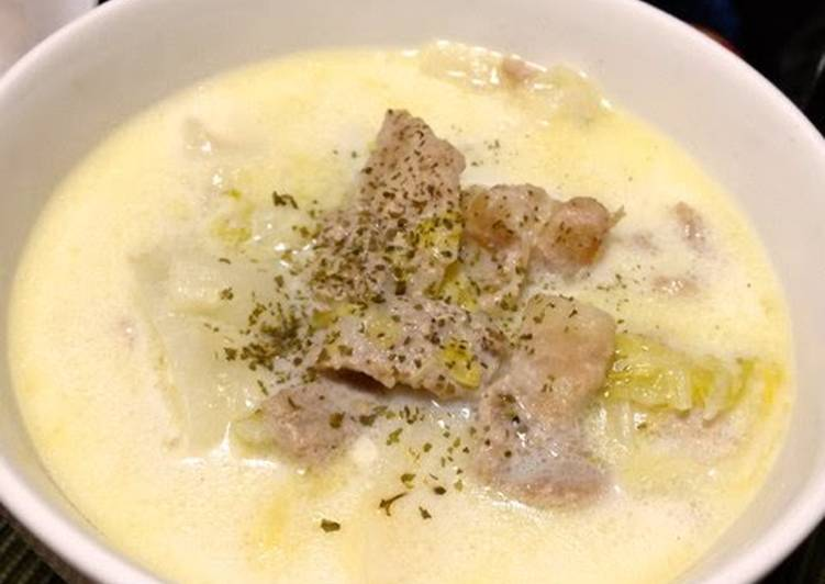 How to Make Award-winning Creamy Milk Soup with Chinese Cabbage and Pork