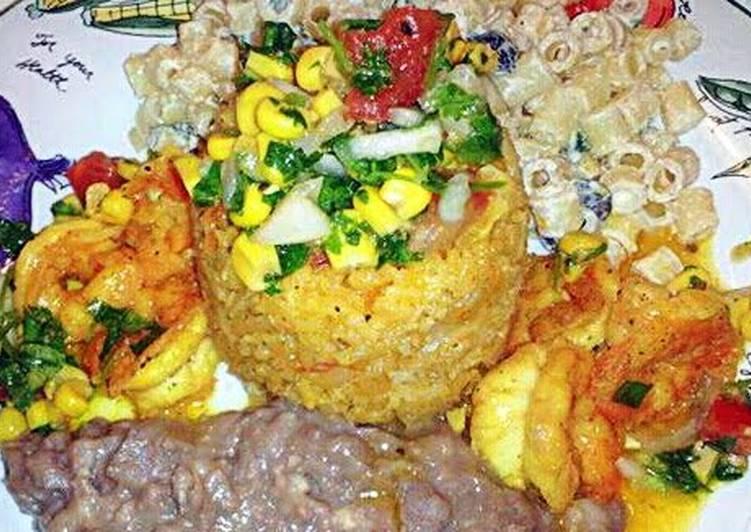 Recipe of Quick Grilled Shrimp & Rice with A Corn Pico De Gallo