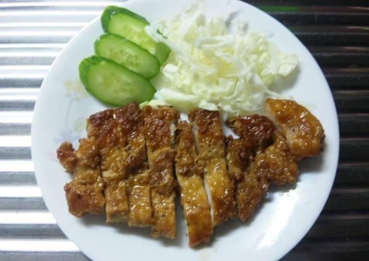 Simple Pork Roast Cutlet Steak