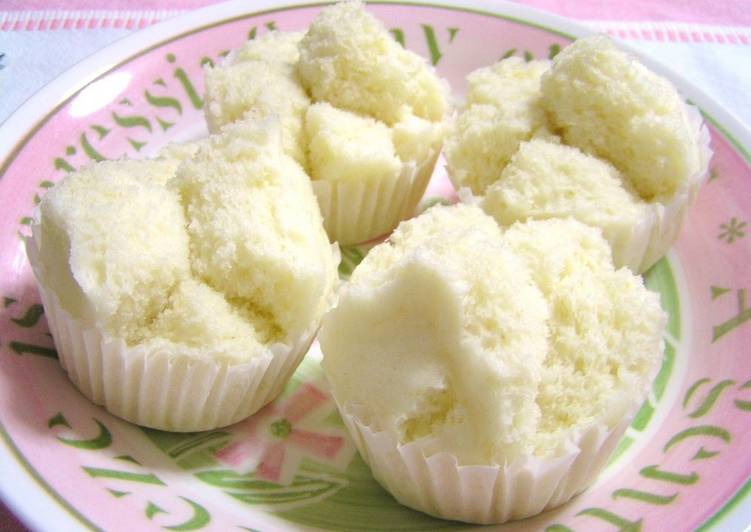 Simple Way to Make Super Quick Homemade White Steamed Sponge Cake, Milk Flavor