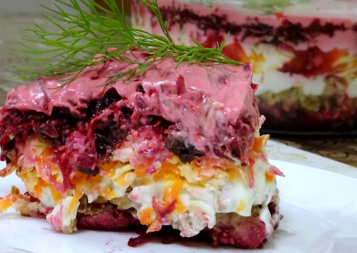 слоеные салаты со свеклой рецепты с фото серферов калифорнии время