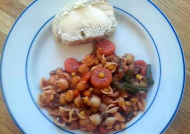taisen's sausage and veggie soup