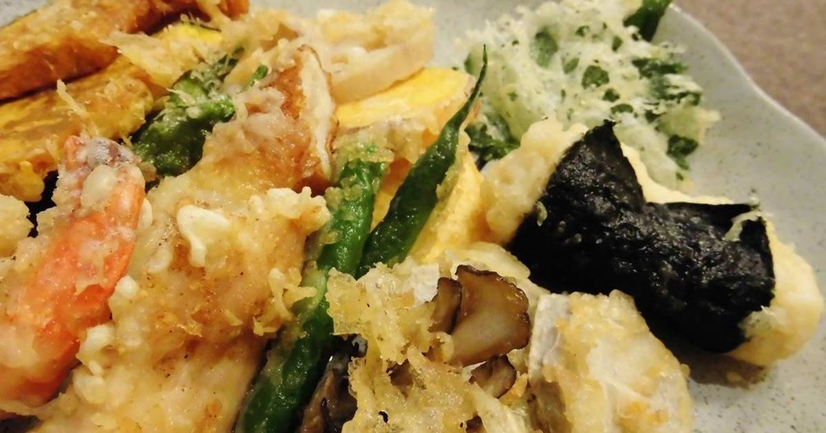 Tempura Batter Crunchy And Crispy Even Cold Recipe By Cookpad Japan Cookpad