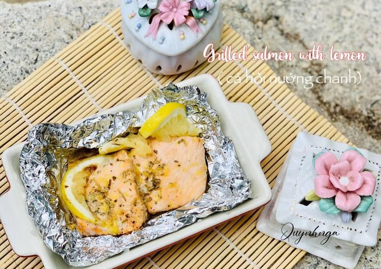 Cá hồi nướng chanh vàng