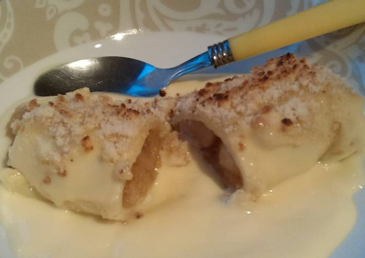 Recipe: Yummy Vickys Apple & Custard Cannelloni Crumble, GF DF EF SF NF