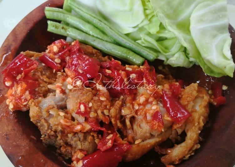 Ayam geprek ambyar🤤