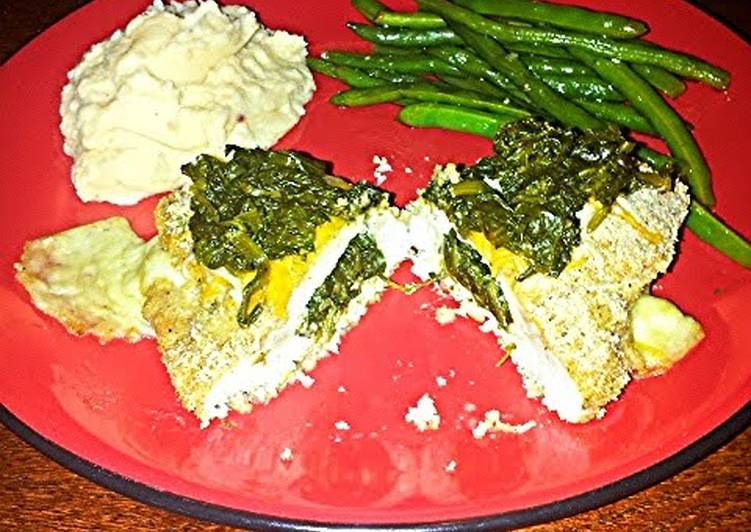 DJ one's mozzarella spinach stuffed chicken breast