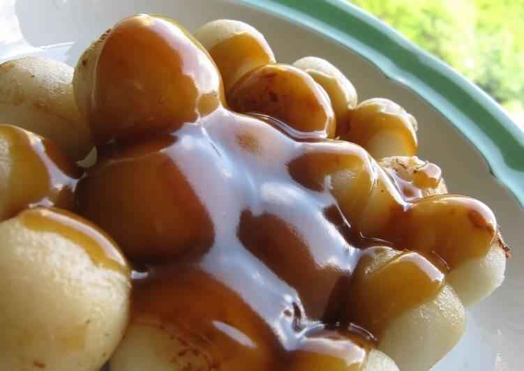 Mitarashi (Sweet Soy Sauce) Syrup for Dango Dumplings