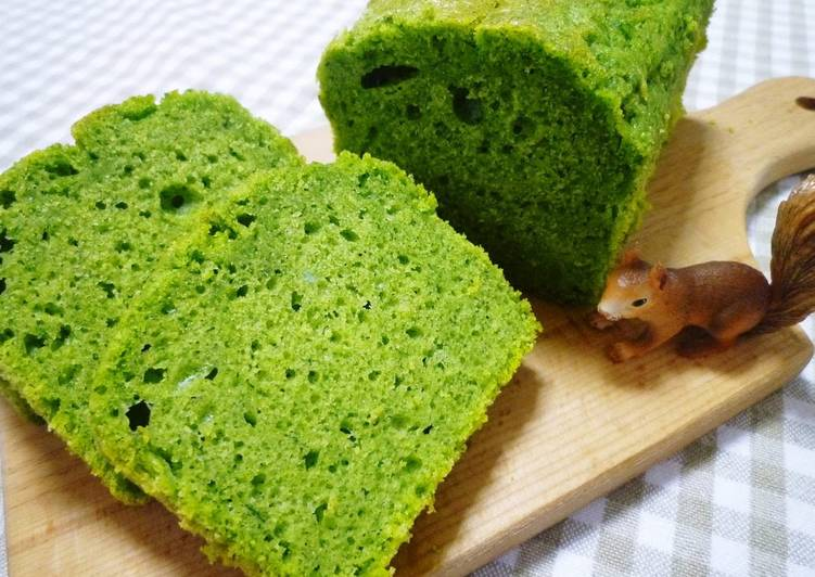 Fluffy and Light Spinach Poundcake