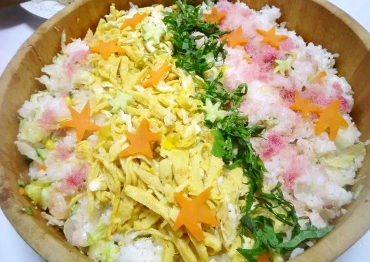 Tanabata The Milky Way Salad Chirashi Zushi