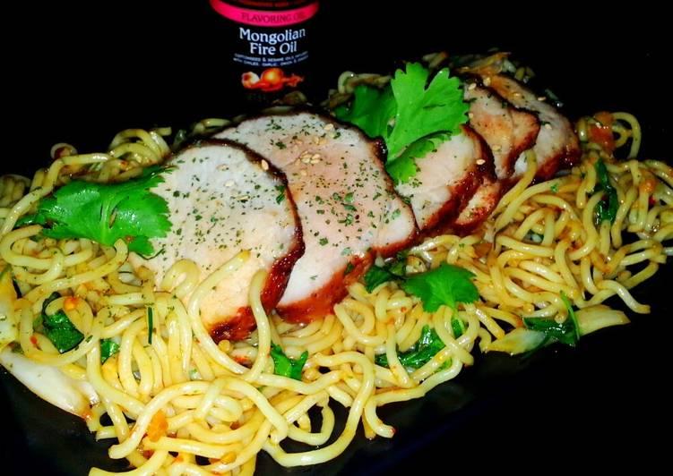 Mike's Garlic Pork & Mongolian Fire Noodles