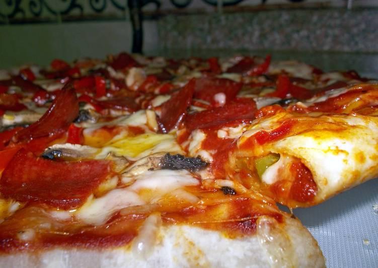 Spicy Pepperoni Stuffed Crust Pizza