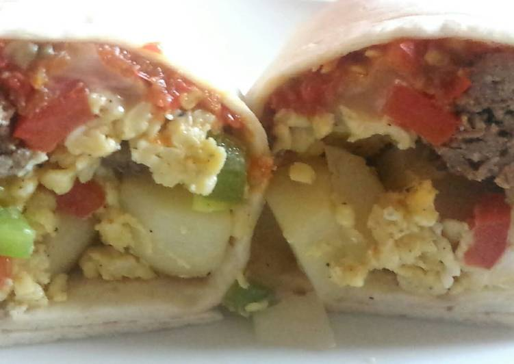 How to Prepare Tasty Skillet Breakfast Burrito