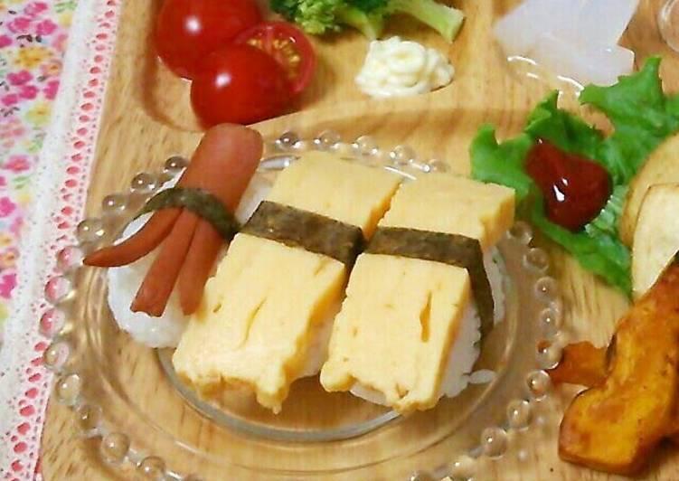 Easiest Way to Make Perfect Homemade Egg Nigiri Sushi (great for kids!)