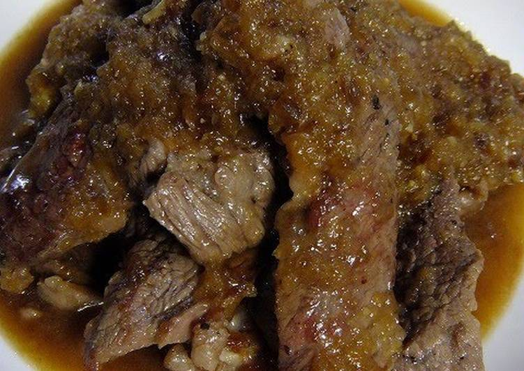 Soft Beef Steak with Wasabi Sauce, Help Your Heart with Food