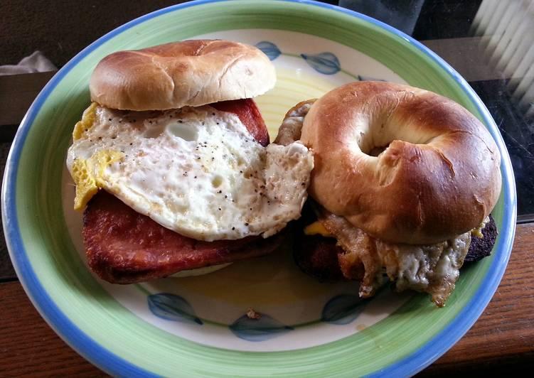 Ruben 213 Bagel Breakfast Sandwich