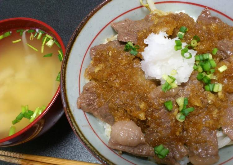 15 Minute Recipe of Winter Refreshing Beef Steak Rice Bowl