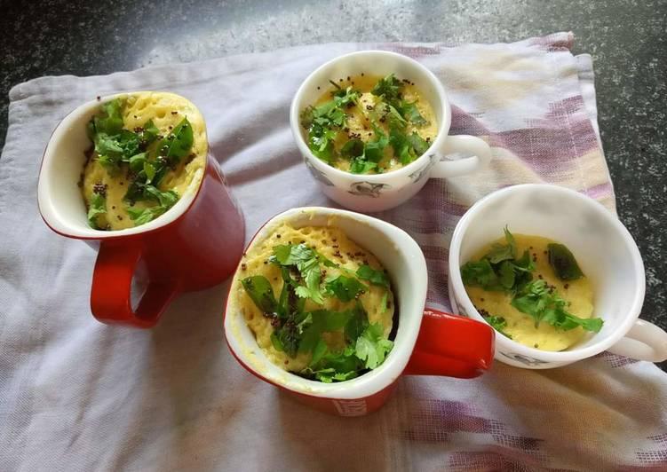 Microwave Khaman Dhokla in Mug !!