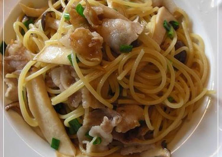 The Meals You Pick To Consume Will Effect Your Health Japanese-style Spaghetti with Plenty of Mushrooms