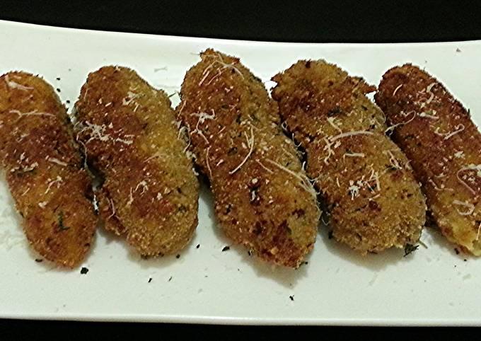Traditional Italian Potato Croquettes