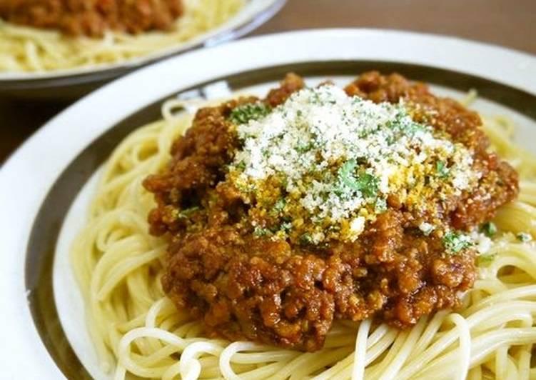Recipe: Perfect Classic Spaghetti Bolognese Sauce