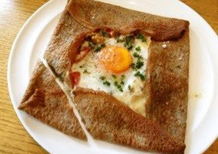 "Step-by-Step Guide to Make Super Quick Homemade Buckwheat Flour Crepe ""Galette"""