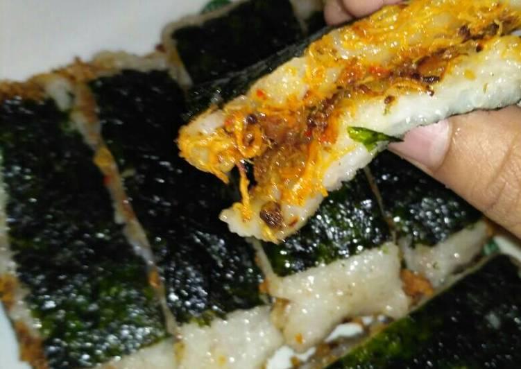 Langkah Mudah untuk Membuat Lemper isi abon ayam ala ala sushi 😅😅😅 Anti Gagal