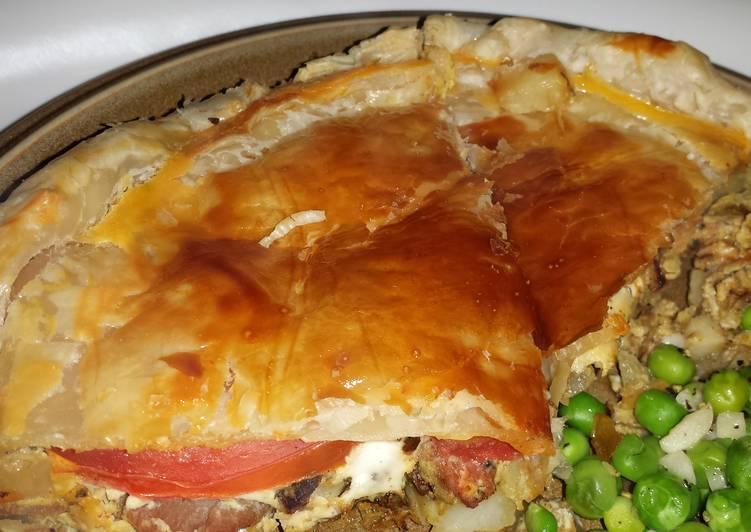 Claires Bacon & Egg Pie