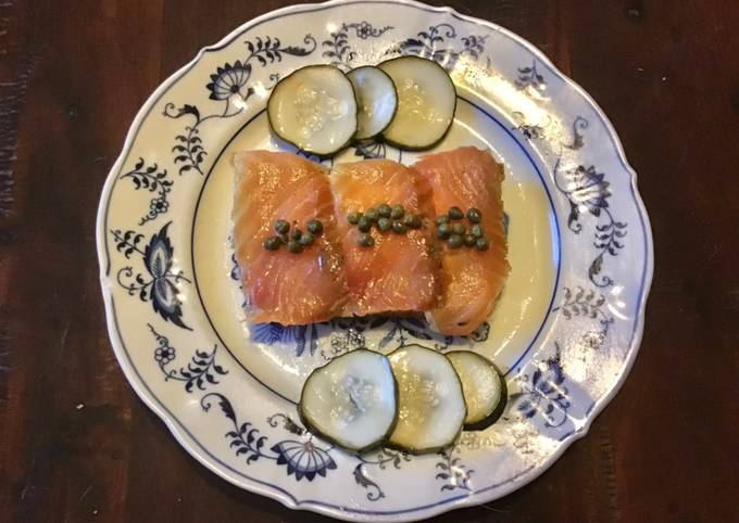 California Farm Lox Salmon from scratch