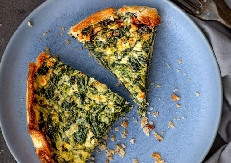 Recipe of Super Quick Homemade Feta & Spinach Quiche