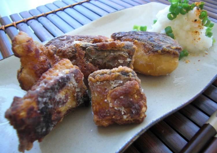 Steps to Make Favorite Pan-fried Mackerel Tatsuta-age