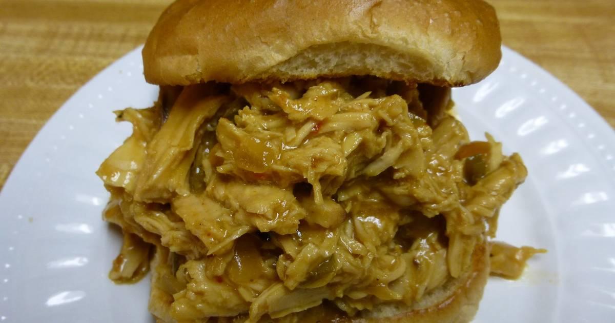 Crock Pot Honey Mustard Pulled BBQ Chicken