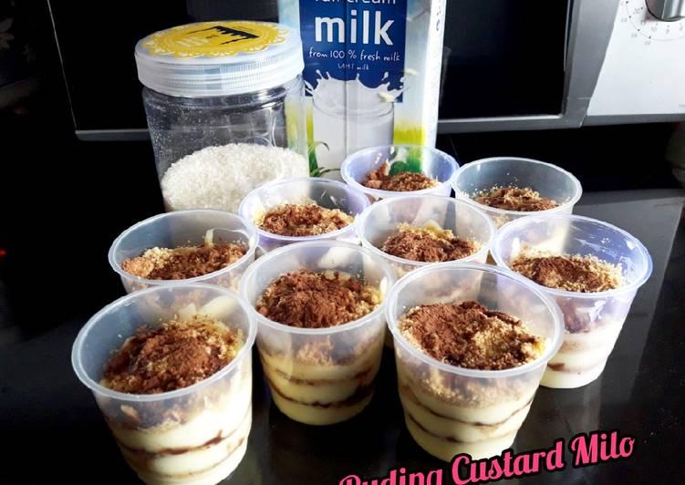 Puding Custard Milo