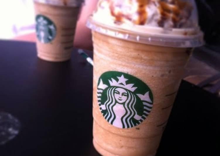 Starbucks caramel frappchino