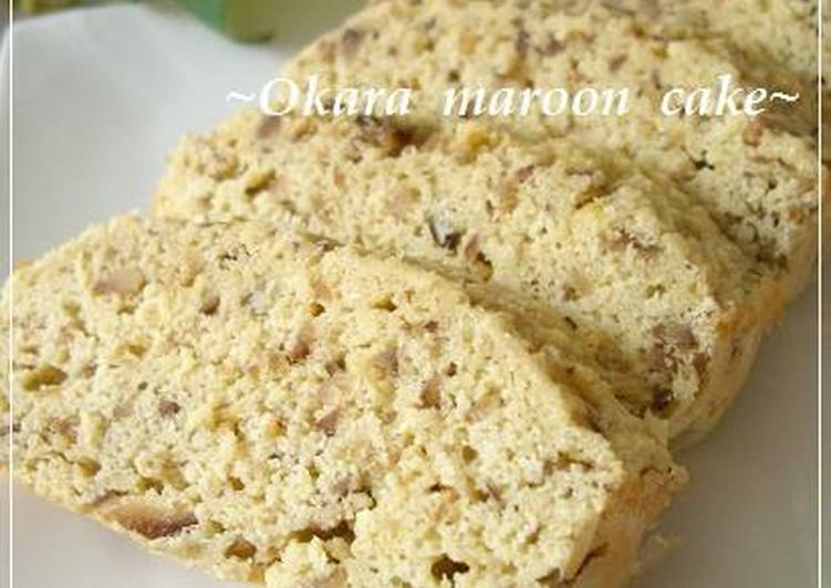 Easy Chestnut Cake with Okara