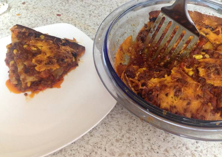 Recipe: Perfect My Layered Meaty Sweet Chili Tortilla Bake (Not Lasagne) ?