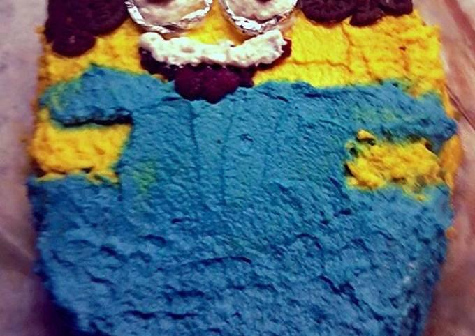 Minion choco-orange birthday cake!
