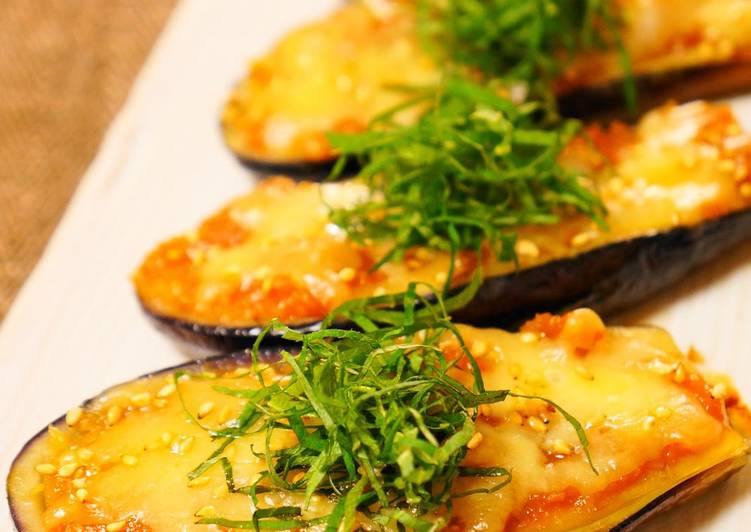 Simple Way to Prepare Favorite Fried Eggplant with Miso and Melted Cheese