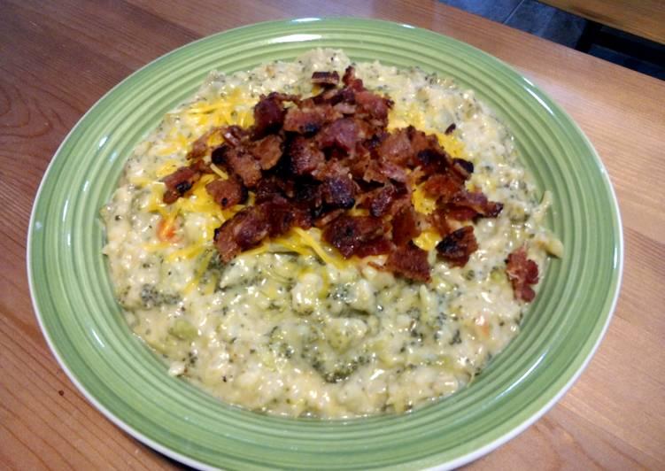 Steps to Make Favorite cheddar broccoli rice soup