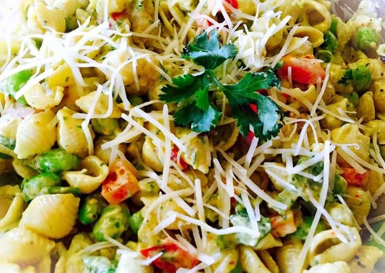 How to Make Delicious Edamame Avocado Cream Pasta Salad