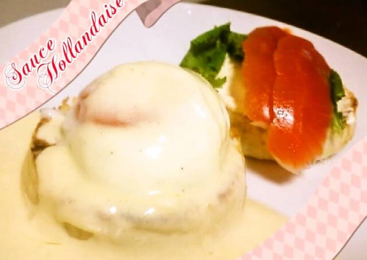 Recipe of Homemade Simple Eggs Benedict and Hollandaise Sauce