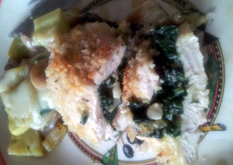 Recipe: Delicious Stuffed chicken breast