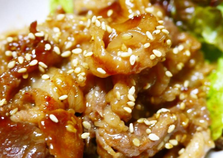 Recipe of Ultimate Deluxe Marinated Pork Yakiniku for BBQ